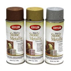 Krylon Make It Stone! Metallic Textured Paints