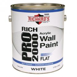 Rich Pro 2000 Interior Flat Acrylic Wall Paint 3,8 литра
