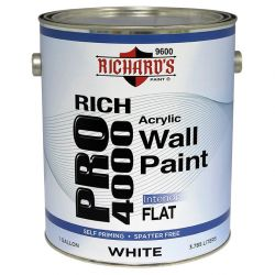 Rich Pro 4000 Interior Acrylic Wall Paint - Flat 3,8 литра